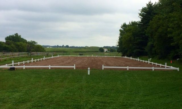View of the Dressage Ring